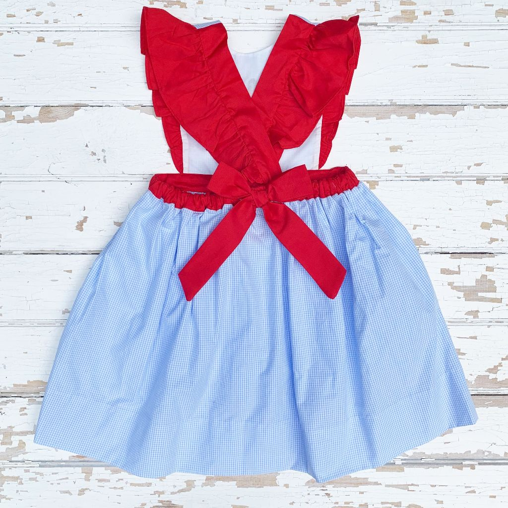 Back To School Pinafore Dress for Girls