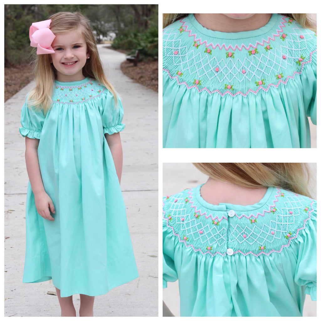 Smocked Mint Bishop