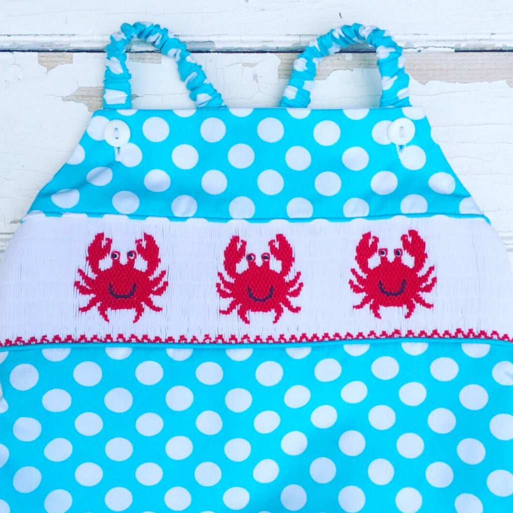 Smocked Crab Swimsuit