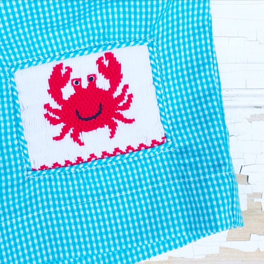 Smocked Crab Swim Trunks