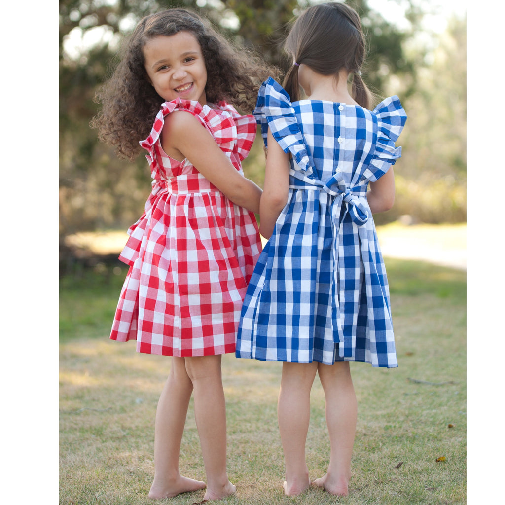 Buffalo Check NAVY Pinafore