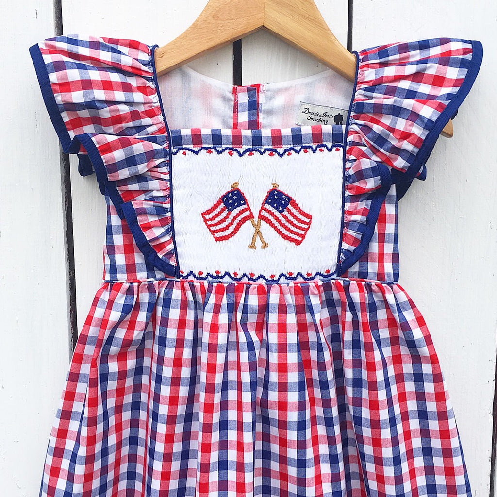 All American Smocked Dress