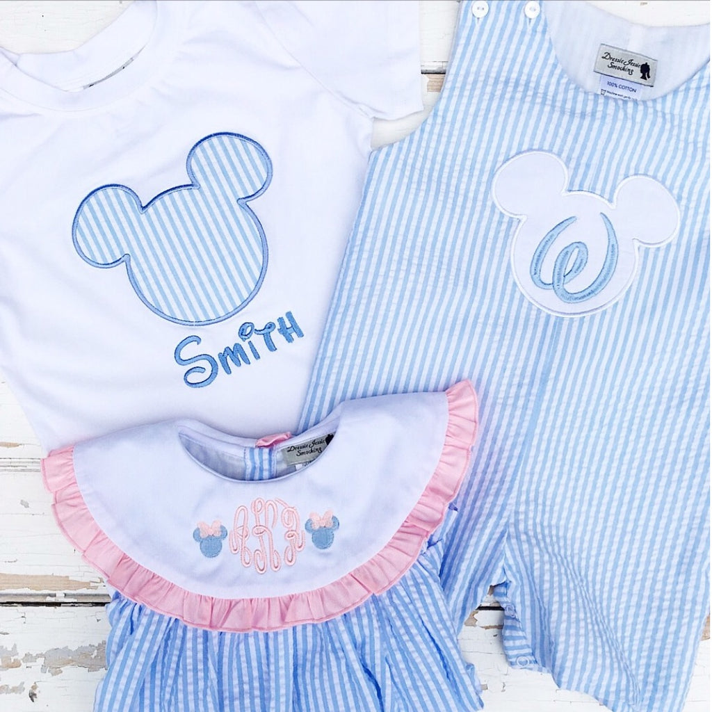 Pastel Mouse Ears Shortall