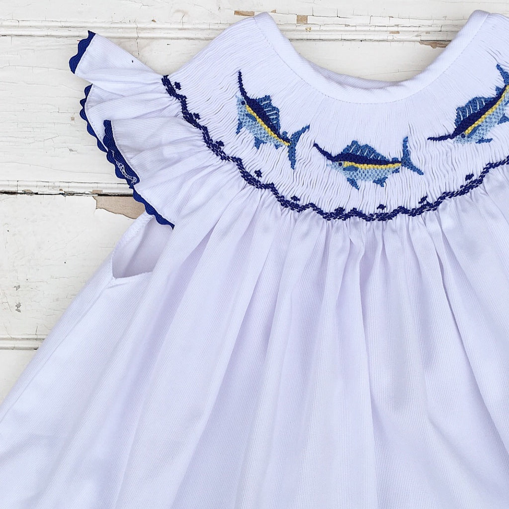 Smocked Marlin Bloomer Set Pre-Order
