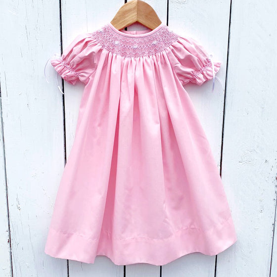 Light Pink Smocked Heirloom Bishop