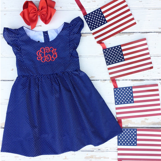 Navy Dot Dress