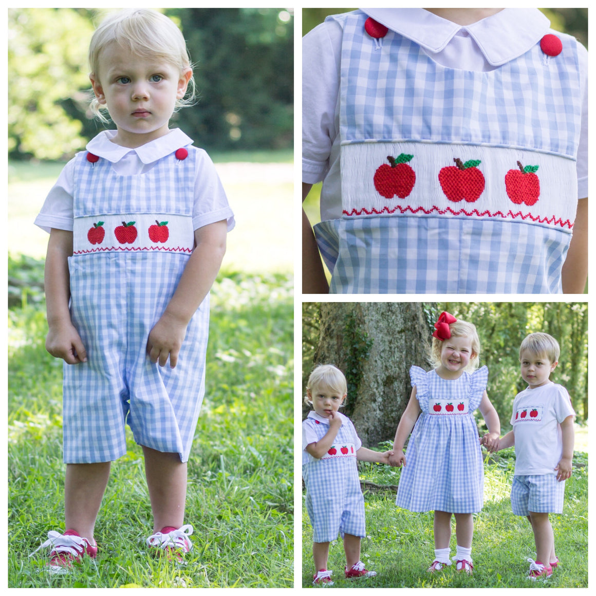 Smocked Apple Shortall Pre-Order