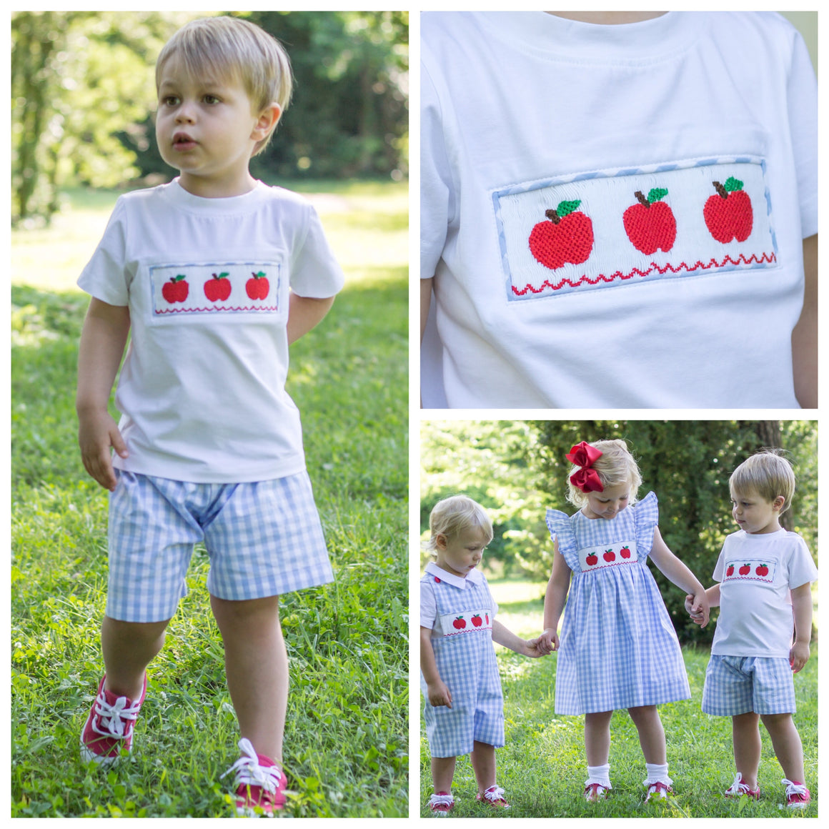 Smocked Apple Short Set Pre-Order