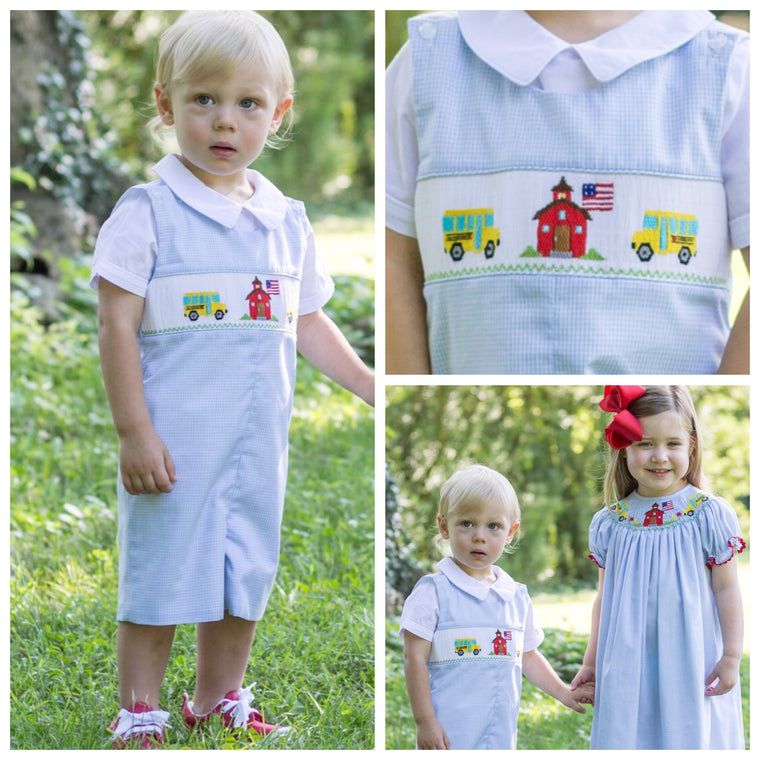 Smocked School Bus Shortall Pre-Order