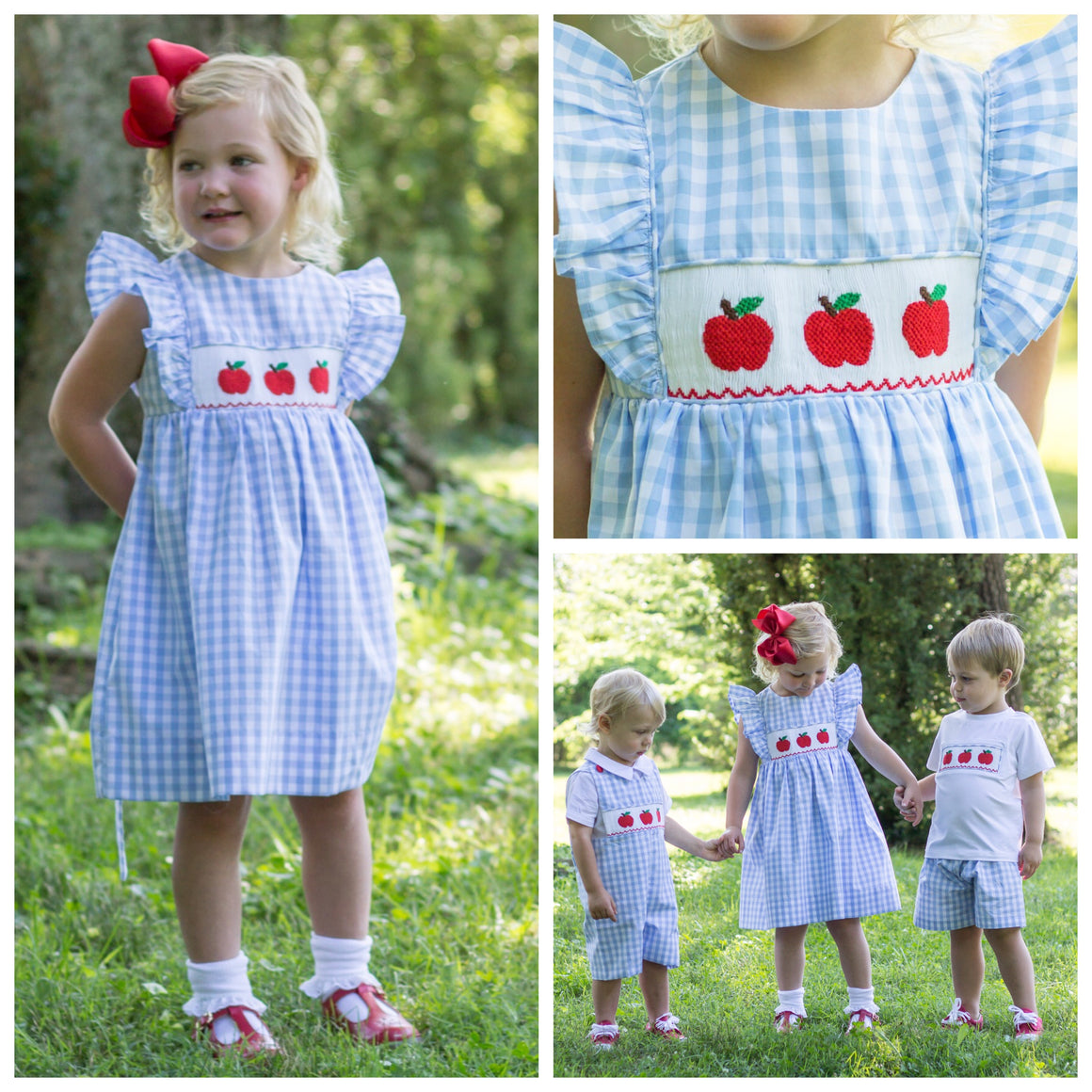 Smocked Apple Dress Pre-Order