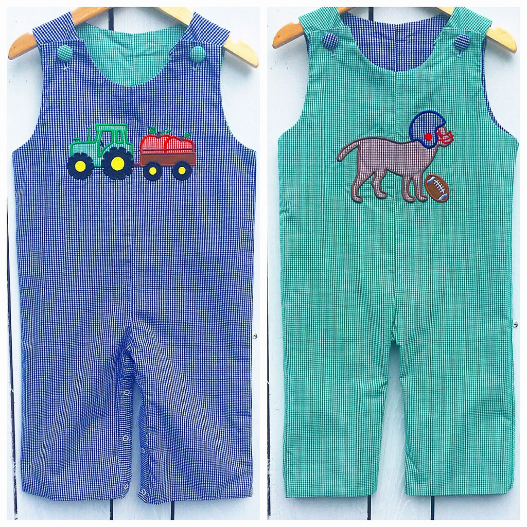 Reversible Tractor / Dog Appliqué Longall Pre-Order