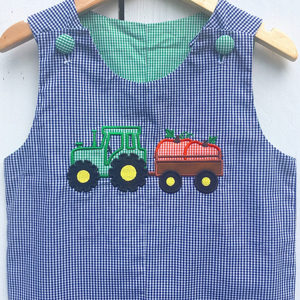 Reversible Tractor / Dog Appliqué Longall
