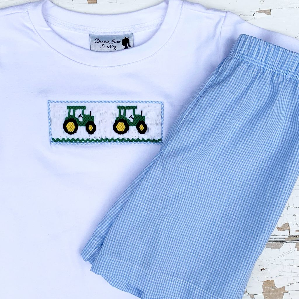Tractor Smocking for Boys