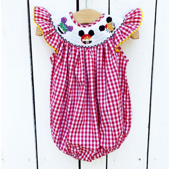 Girls Smocked Toy Story Bubble