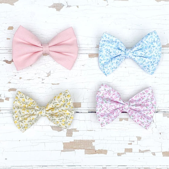 Handmade Fabric Hair Bows for Girls