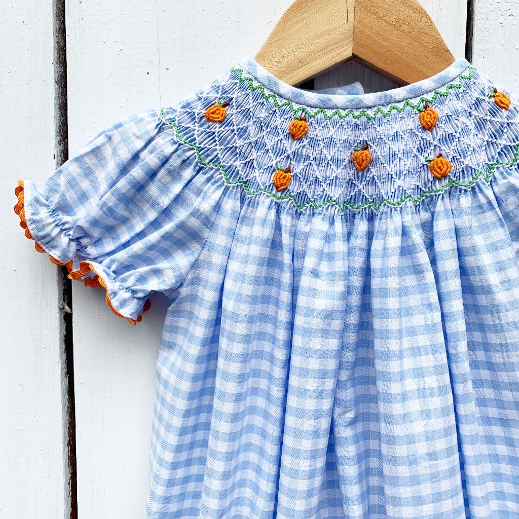 Mini Pumpkin Smocked Bishop