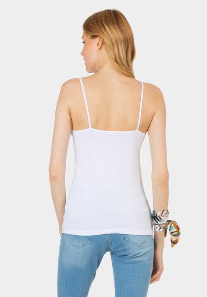 White Basic String top
