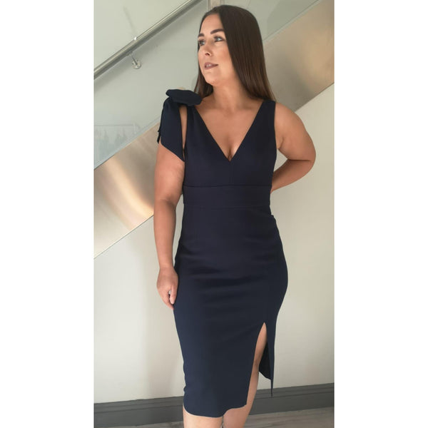 Milana Navy Midi Dress