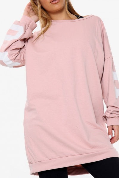 Buffalo Slogan Oversized Sweater - Pink