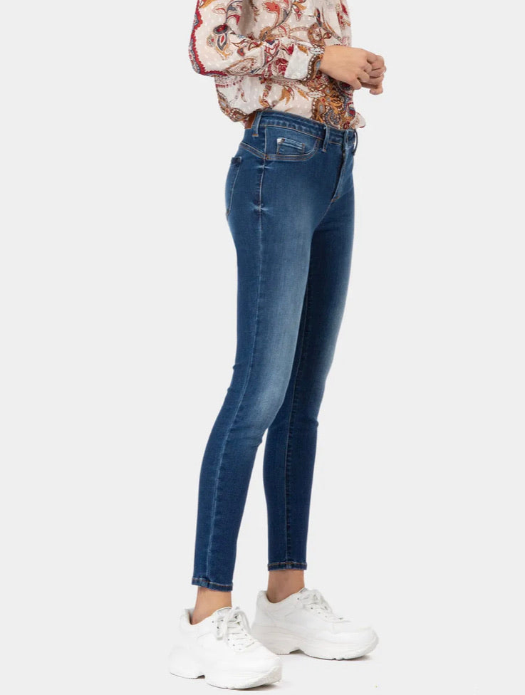 Tiffosi One Sjze Curvy Dark Denim