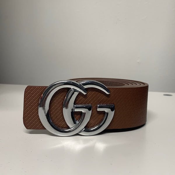 Brown belt with Silver GG