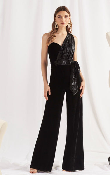 "Love Honor ""Claudia"" Black Jumpsuit"