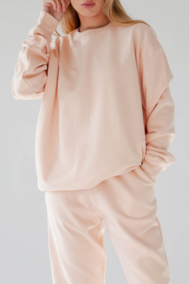 Oversized Blush Sweater