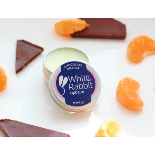 natural lip balm chocolate and orange flavour