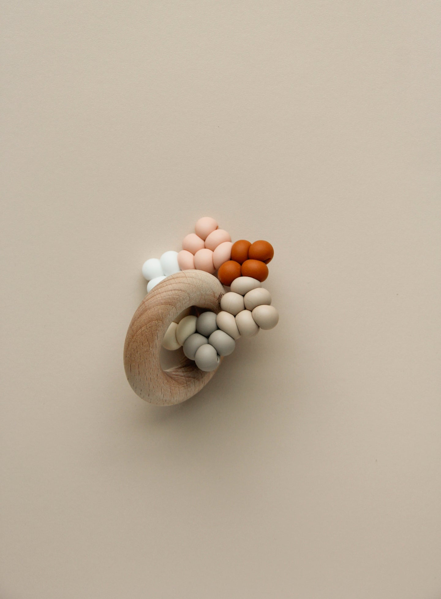 Silicone + Wood Ring Toy - Borra Star