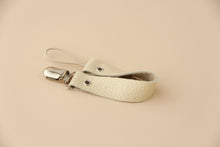 Leather Pacifier Holder - Ivory