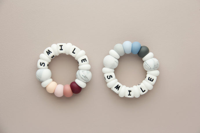 Personalized Silicone Teething Toy - Smile