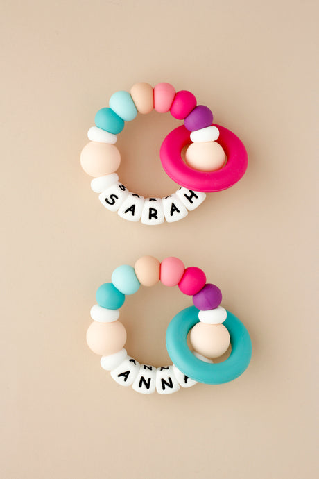 Personalized Silicone Teething Toy - Summer Bright