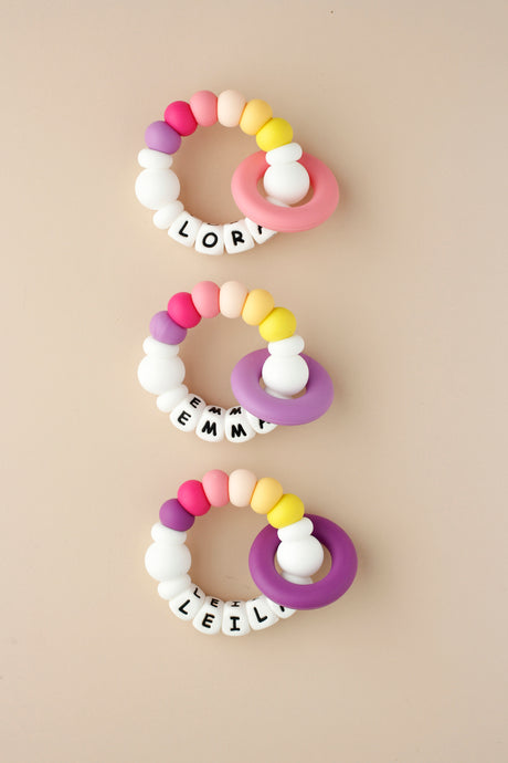Personalized Silicone Teething Toy - Vienna