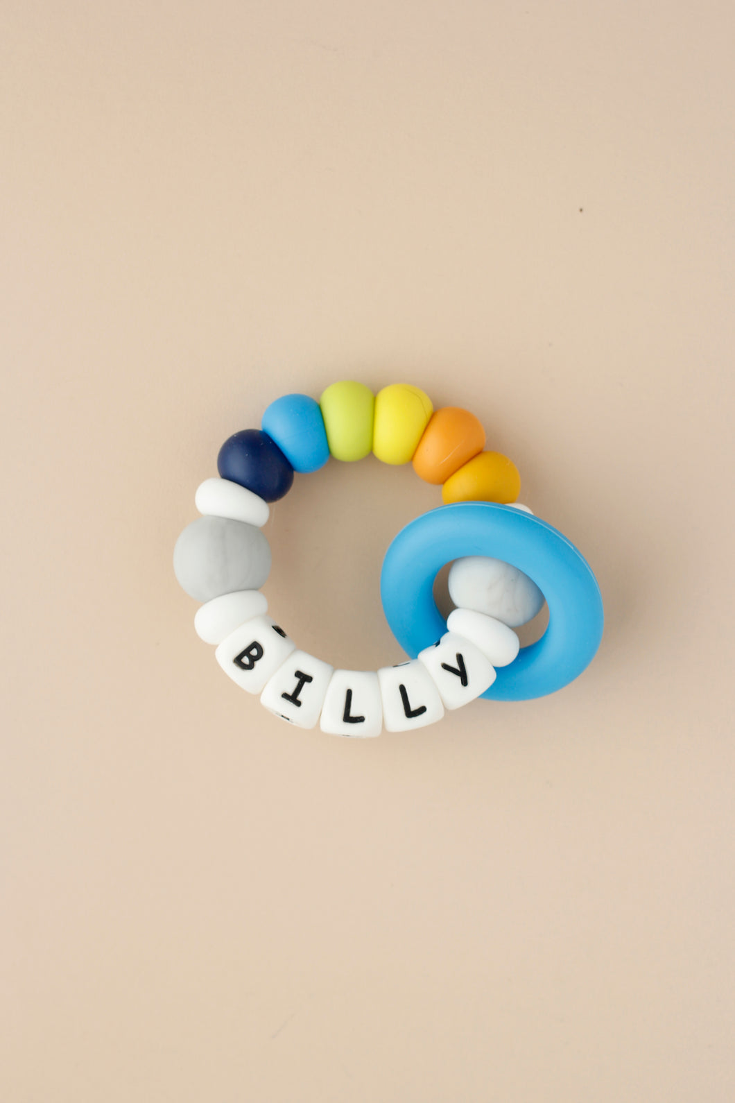 Personalized Silicone Teething Toy - Moon