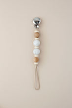 Mini Silicone Pacifier Clip - Cream Carmen