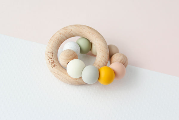 Silicone + Wood Ring Toy - Melody