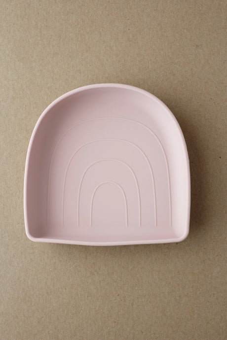 Silicone Suction Plate - Rainbow | Pale Mauve