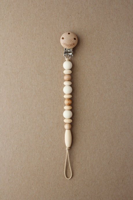 Pacifier Clip - Omar | Cream