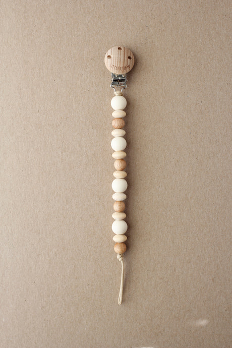 Pacifier Clip - Amor | Cream