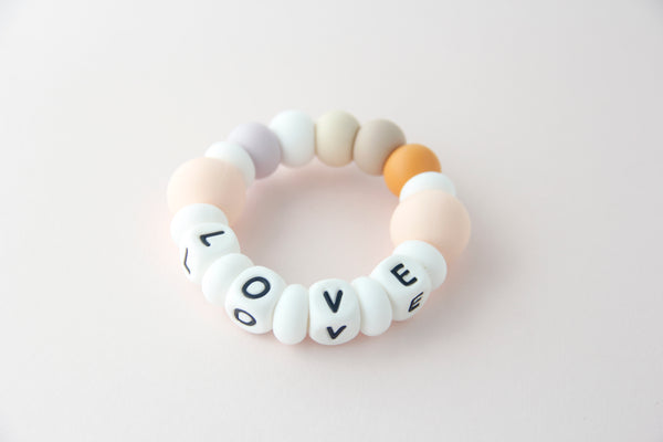 Personalized Silicone Teething Toy - Love