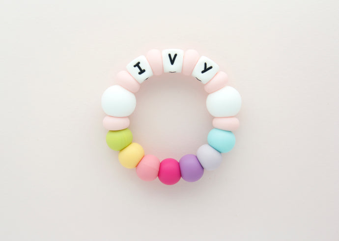 Personalized Silicone Teething Toy - Sweet Treat
