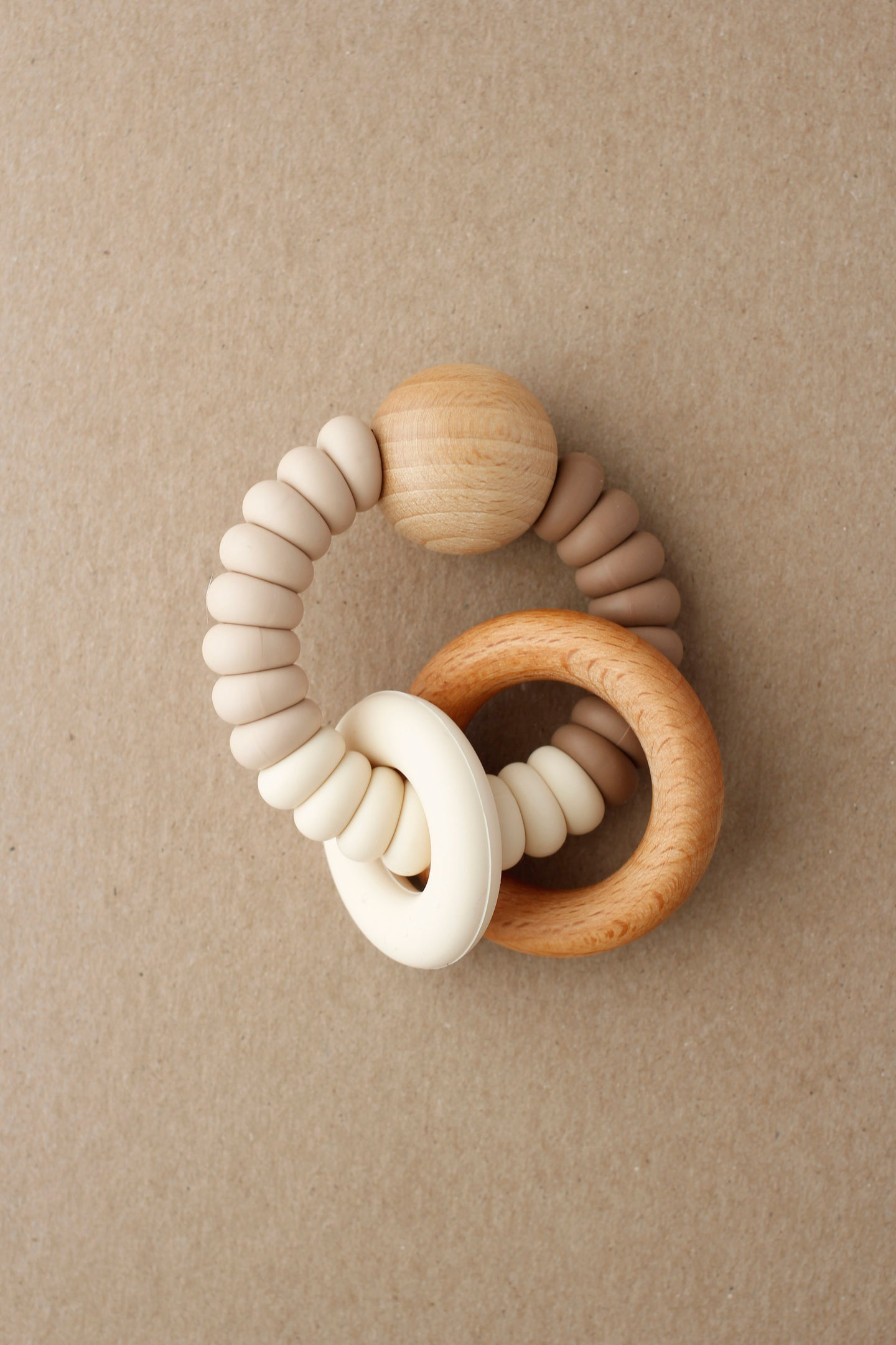 Rattle Teether  - Dany | Maple