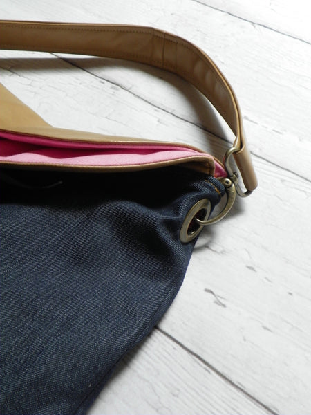 Linen hobo bag from The Joy Collection