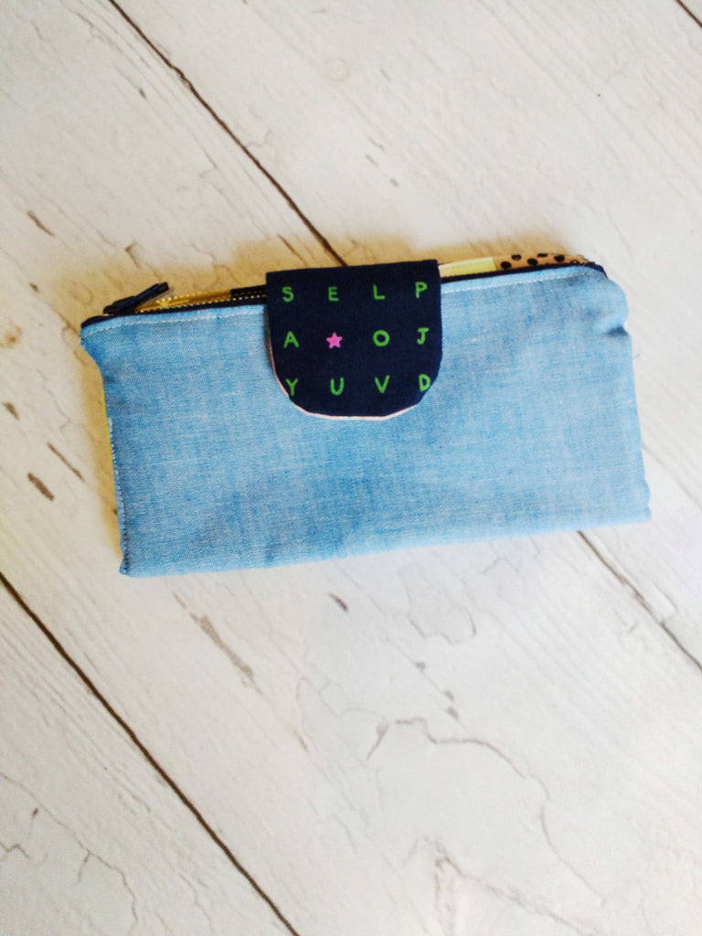 Double Zipper Clutch Wallet