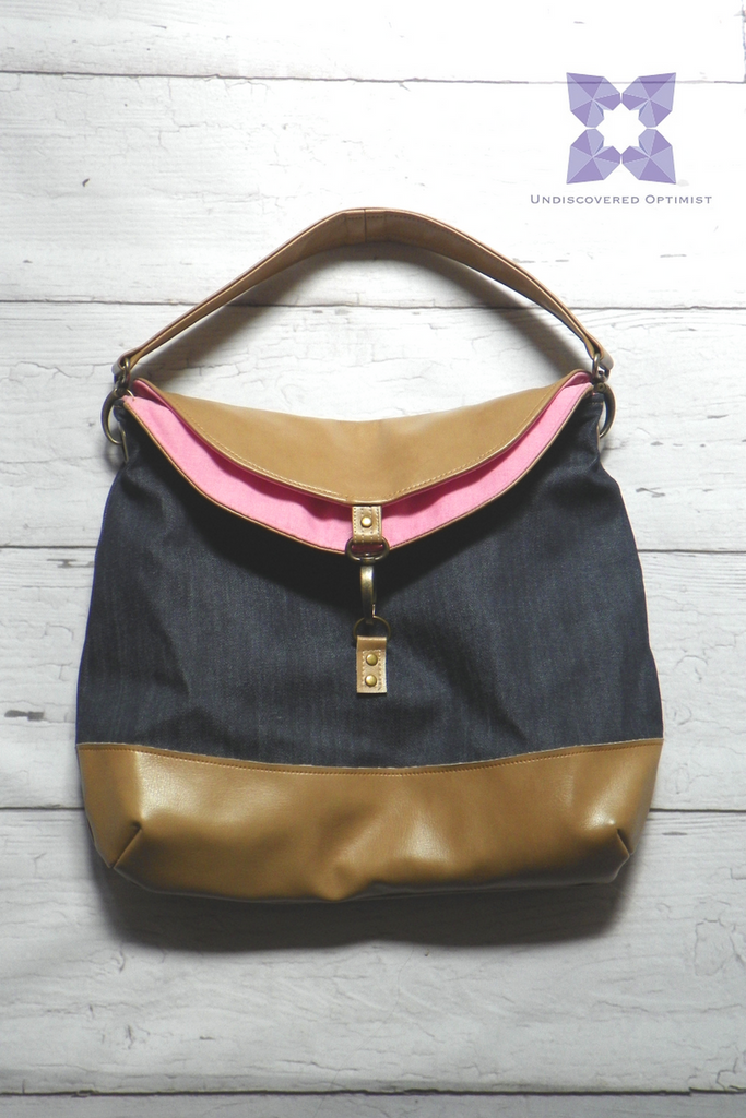Denim hobo bag from The Joy Collection