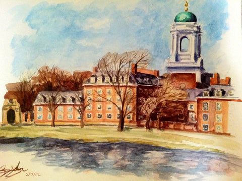 Eliot House. Watercolor. Sold.
