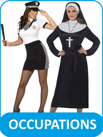 Women's Occupational Fancy Dress Costumes