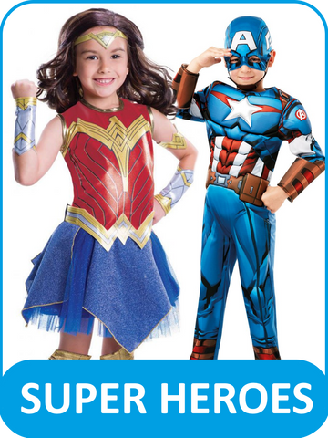 Children's Super Hero Fancy Dress Costumes
