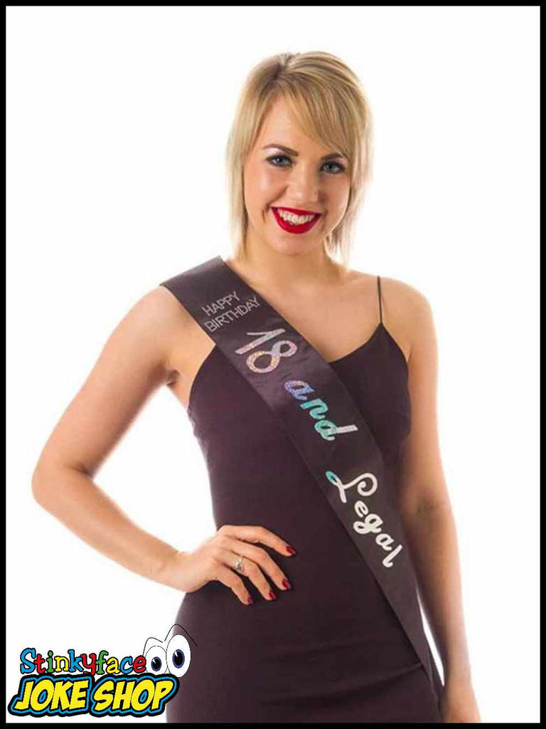 18 & Legal Black Sash