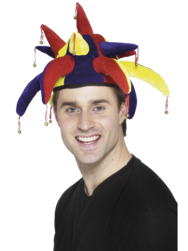 Multi-Coloured Jester Hat with Bells